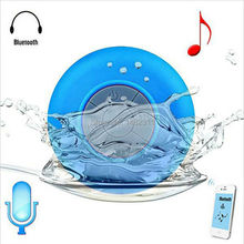 Portable Waterproof Bluetooth Speaker Shower Wireless speaker for iphone samsung Receive Call Music Suction Speakers Free Ship