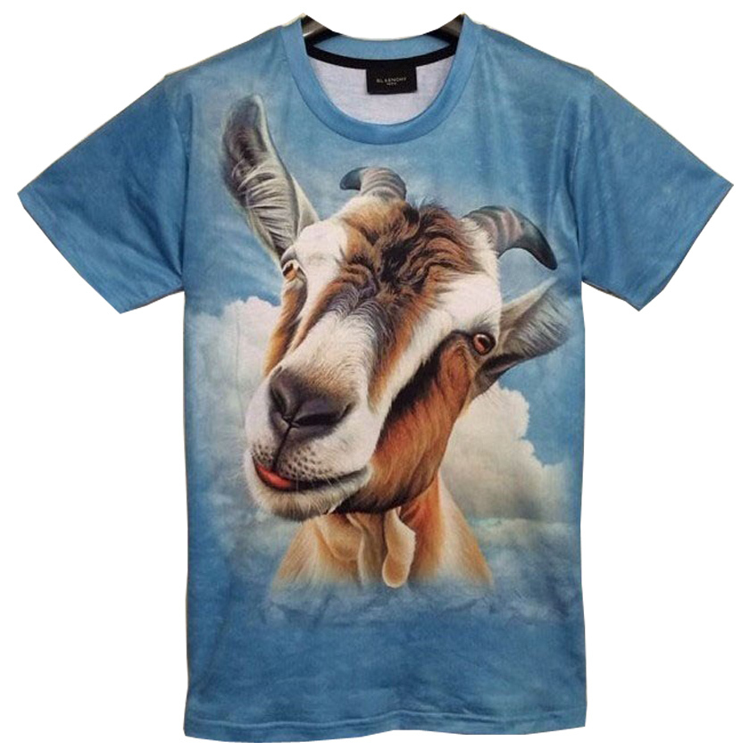 new 3D Personality animal print T shirt,Very cute dogs, rabbits, giraffes, whales.. A variety of animal print 3D t-shirt T2(China (Mainland))