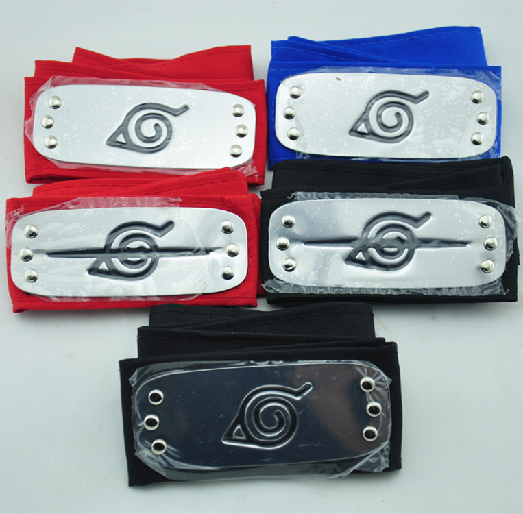 Hot amine Naruto Headband Leaf Village Logo Akatsuki Members Hinata Konoha Kakashi cosplay Headband Naruto cosplay top sale(China (Mainland))
