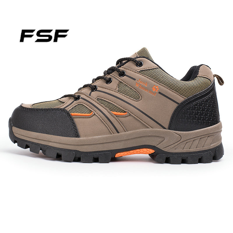 FSF Outdoor Trekking Boots with 3 Colors Waterproof Anti-skid Breathable Boots Top Quality Mountain Climbing Hiking Shoes 8520