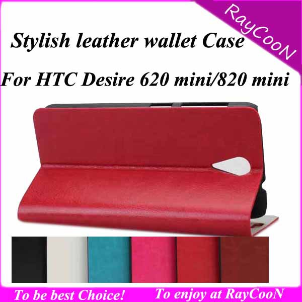 10pcs/lot high Quality Super slim PU leather wallet case for HTC Desire 820 mini,PU leather cover for HTC 620 mini,can mix color