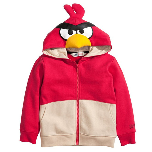 Мало maven 2016 осень зима мальчики/девушки марка одежды детей теплые Толстовки и Кофты Хлопка прекрасный птица флис WY001