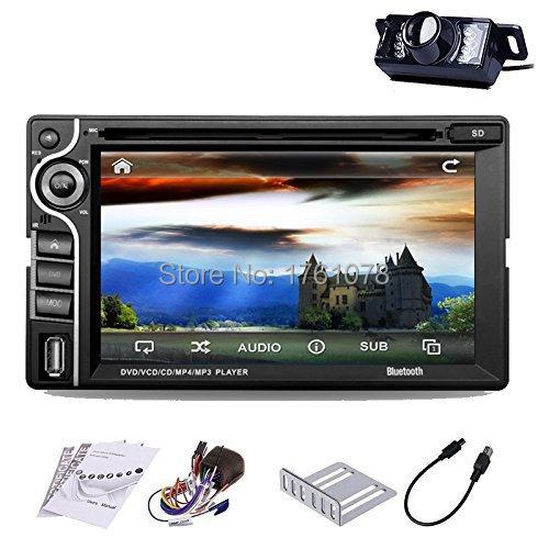 2 Din 6.2 Inch Dash Car Stereo CD DVD Player Auto Radio FM Stereo USB Port SD Card Slot Bluetooth+Free LED Backup Camera(China (Mainland))