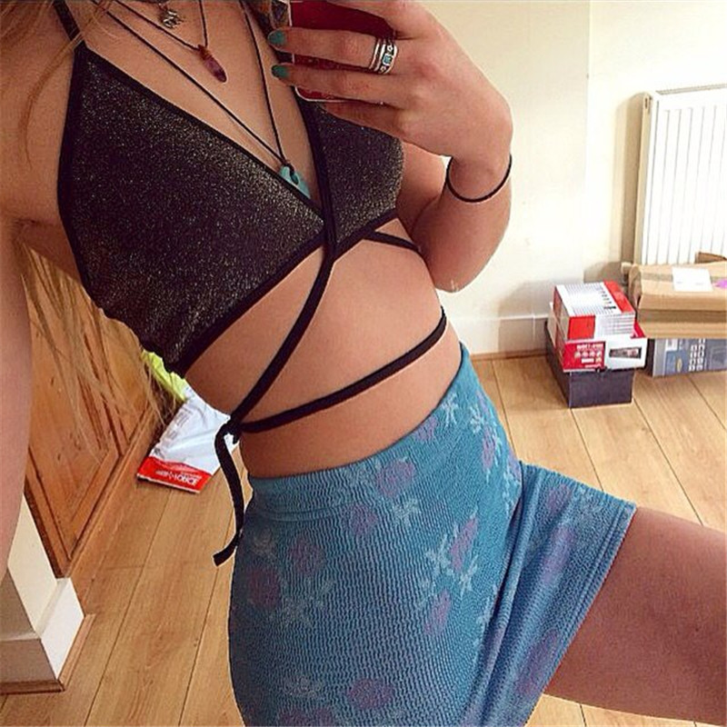 2016 Sexy Summer ladies camisole tops beach holiday straps crop top camis women strappy tank tops girls strap top(China (Mainland))