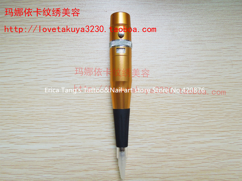 Adjust needle length Permanent Makeup pen Tattoo Eyebrow Machine for professional tattoo artist(China (Mainland))