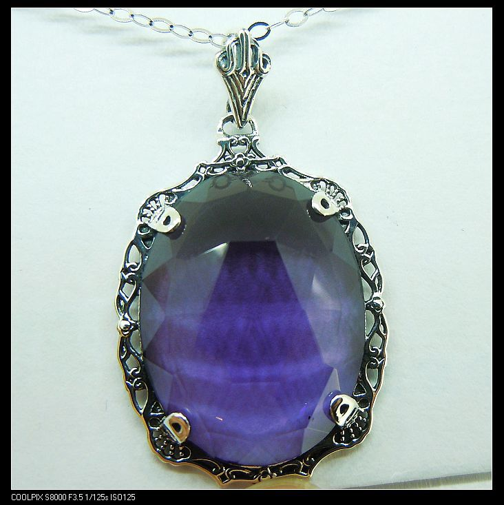 2014 fashionable adornment art act the role ofing is tasted ancient silver amethyst pendant<br><br>Aliexpress