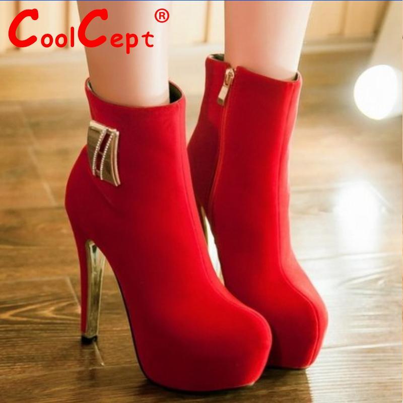 women high heel ankle boots buckle half short bota warm winter boot weeding heels fashion mujer footwear shoes P20537 size 33-42<br>