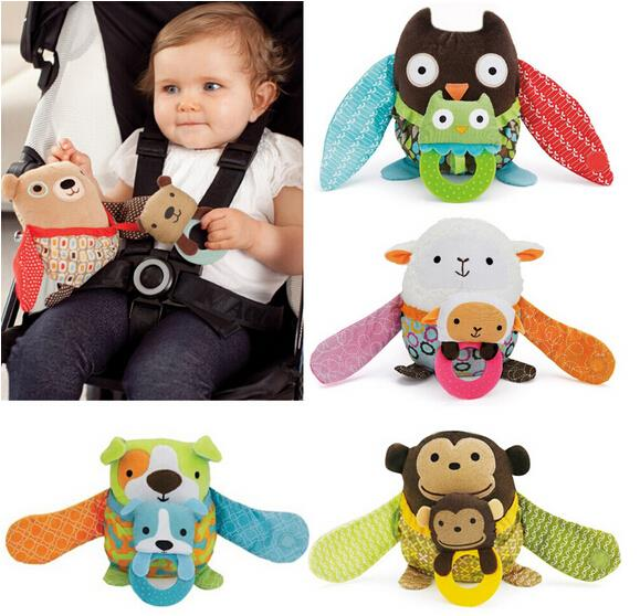 2015 Year Up to date Baby Toy skipping Child Toy Plush Baby Stroller Ornaments Rattles Toy Children Of Pendant Christmas Gift(China (Mainland))
