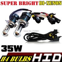 12V  2PCS 35w H4-3 Hi/Lo hid xenon bulb 4300K 5000K 6000K 8000K  bi xenon h4 H4-3 bi xenon bulb p H4 with wires relay harness