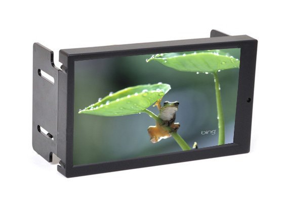 """6.95"""" Double DIN Touch Screen VGA Monitor with AV2 Reverse Camera for Car PC(China (Mainland))"""