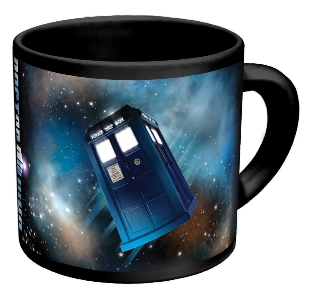 Hot Sale Doctor Dr.Who Heat Reveal Mug Color Change Coffee Cup Sensitive Ceramic Chameleon Magical Mug Novelty Gifts 1pc(China (Mainland))