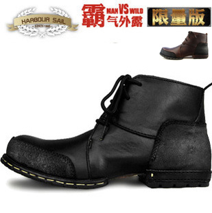 2015 New Men casual boots shoes trend cowhide leather Lace-up Genuine Leather Man Ankle Boots WInter - Kuta Co., Ltd. store