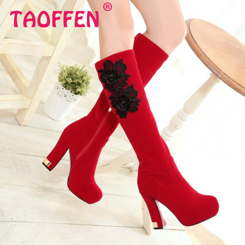 women high heel over knee boots winter warm snow platform long boot quality fashion footwear heels sexy shoes P20663 size 32-42<br><br>Aliexpress