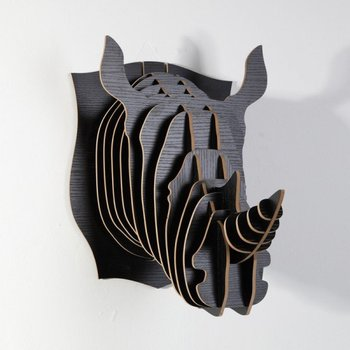 DHL Free Shipping! Wholesale wood carved Rhino head wall decoration,wall mount