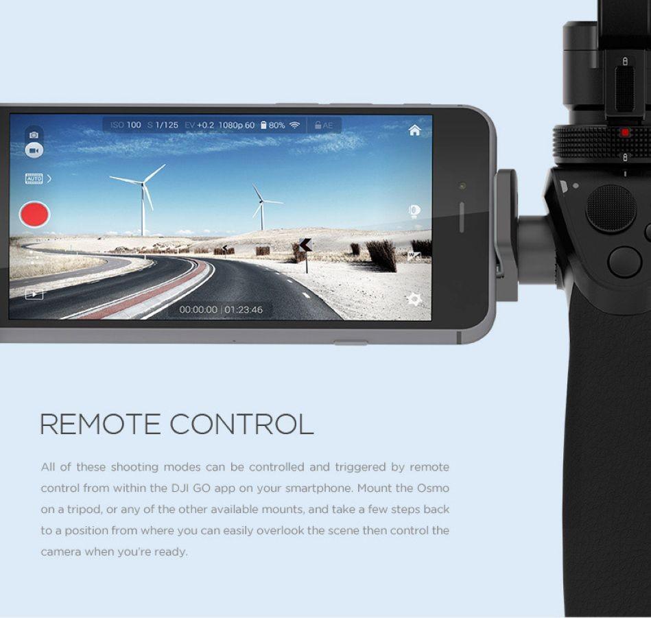 Original DJI Osmo 3-Axis Handheld Gimbal Stabilizer Camera 4K video, 12 megapixel photos Professional 3-axis stabilization