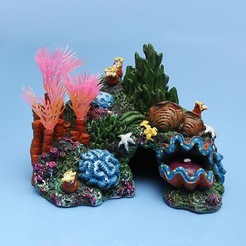 Top 2016 high quality aquarium artificial mounted coral for Artificial coral reef aquarium decoration uk