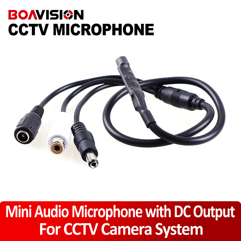 Audio Pick Up Mic Audio Microphone For CCTV Security Cameras(China (Mainland))
