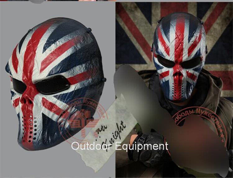 Tactical Game Masks British Knights Military Wargame Motorcycle Full Face Paintball Balaclava Airsoft Skull Protection Mask(China (Mainland))