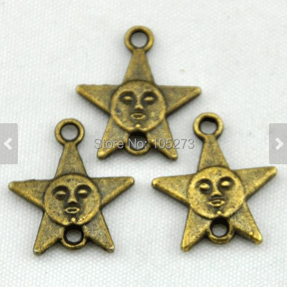 Five-Pointed Star Charm 25pcs Antique Bronze Sunflower Charm Pendants Connector 15x18mm , DIY Accessory Jewelry Making(China (Mainland))
