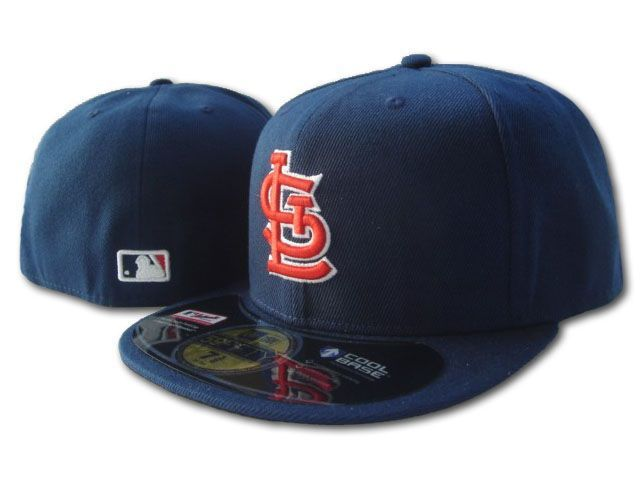 3 styles St. Louis Cardinals Fitted Hats In Full Red blue Color STL Letter On Field Baseball Sports Caps Hip Hop Style Bones(China (Mainland))