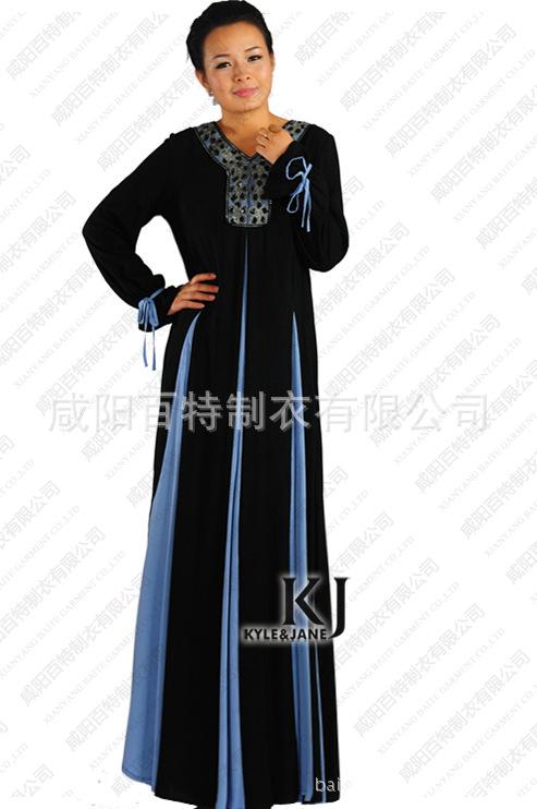 2015 muslim women djellaba cotton and silk plus size long sleeve Malaysia Dubai Turkish ladies robe arab garment prayer clothingОдежда и ак�е��уары<br><br><br>Aliexpress