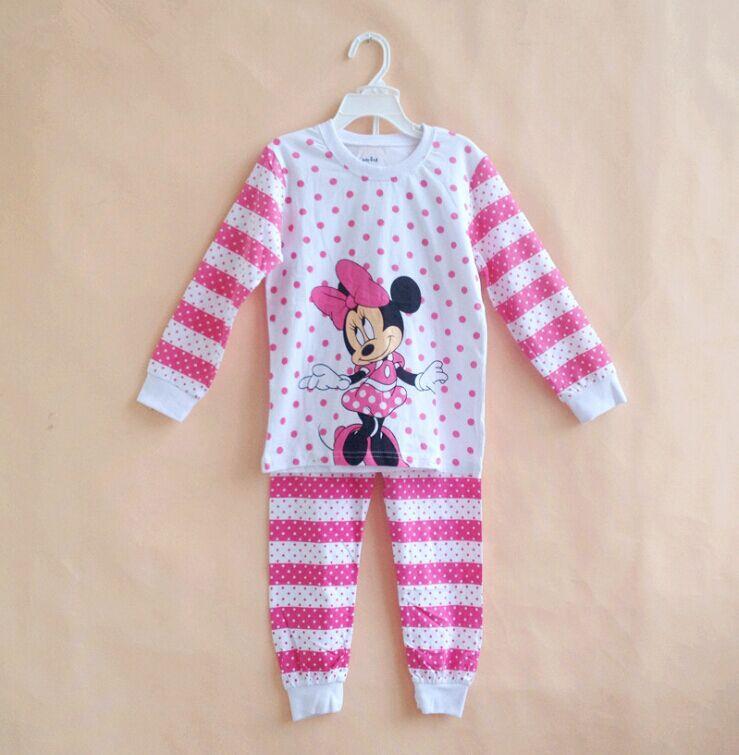 Minnie Baby Pijamas Kids Printed Sleepwears Clothing set  6sets/lot  Fleece Pajamas Set for 4-10yrs 016<br><br>Aliexpress