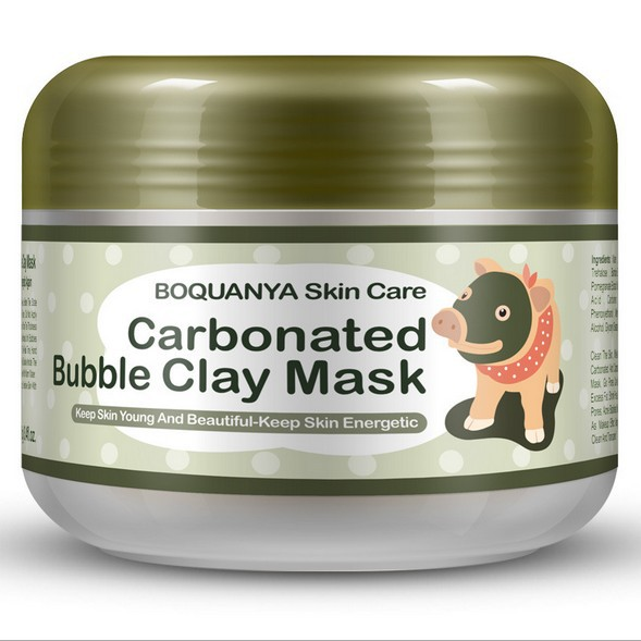 BIOAQUA pig carbonated bubble clay Mask 100g remove black head acneShrink pores face care facial sleep mask(China (Mainland))