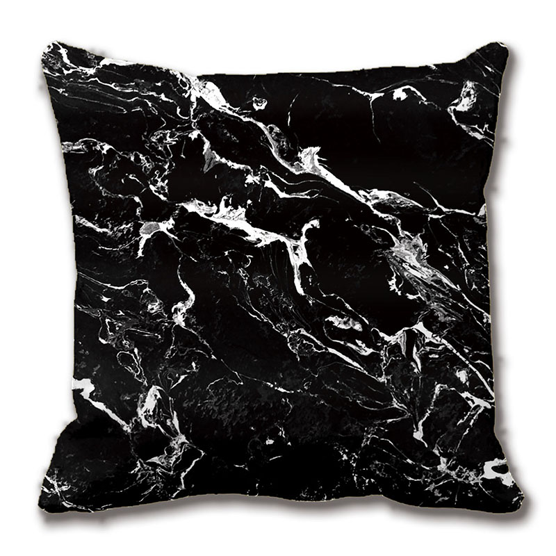 Black And White Modern Marble Pattern Cushions Decorative ...