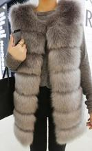 2015 winter new women fashion sweet fox fur vest  S M L XL other size pls contact seller to custom(China (Mainland))
