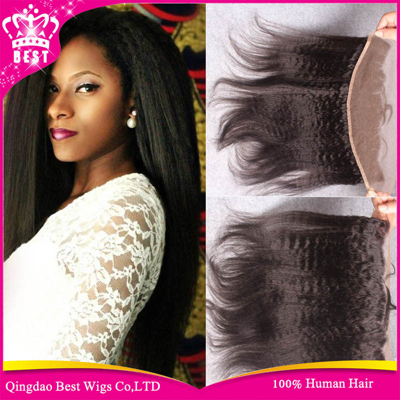 6A Coarse Yaki Lace Frontal 13x4 Brazilian Kinky Straight Lace Frontal Closure Bleached Knots Free 3 Part Top Lace Frontal Stock<br><br>Aliexpress