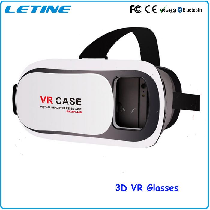 2016 Hot Virtual Reality Headset 3D Glasses Google Cardboard VR Box Oculus Rift DVD Movies Wireless Gamepad Phone Glasses GD03-3(China (Mainland))