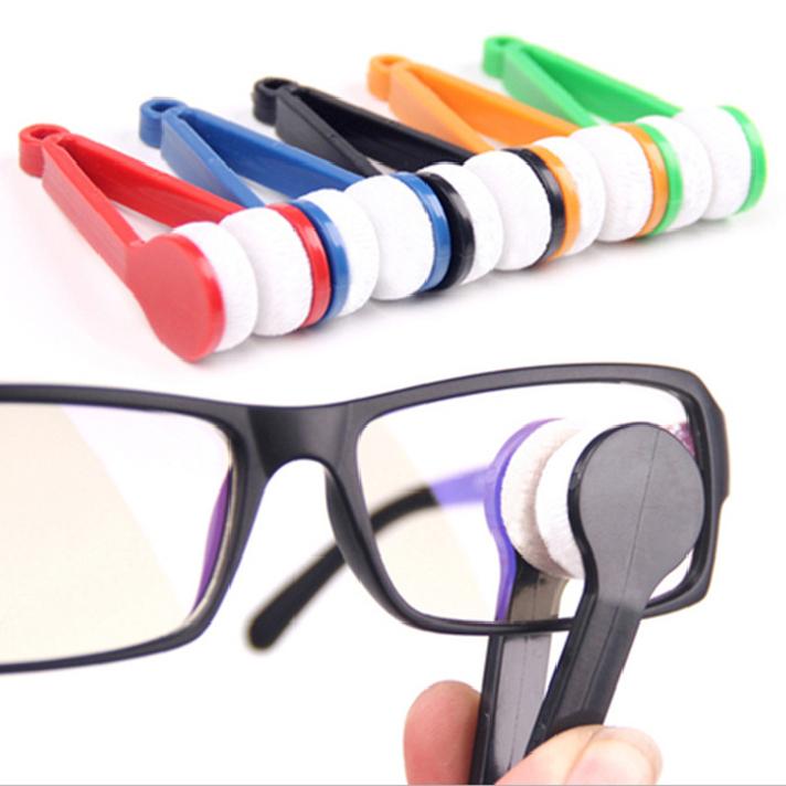 Best sleller 10Pcs Mini Eyeglass Microfiber Brush Cleaner for Sun Glasses Eyeglass(China (Mainland))