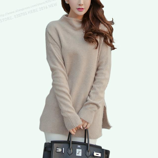 Мода 100 кашемир пуловер женщин свитера 100% норки кашемира женщин водолазка вязаный ...