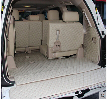 Newly! Special trunk mats for Toyota Land Cruiser 8seats 2015-2007 waterproof boot carpet for Toyota LC200 2013,Free shipping