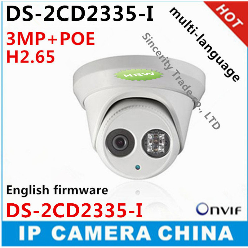 2016 New model DS-2CD2335-I 3MP array 30m IR Network Dome security ip camera H265 multi-language firmware 5.3.3 versions(China (Mainland))