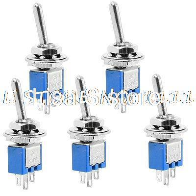 5 Pcs DPDT ON-ON 3 Pin 3 Terminal Panel Mounting Mini Toggle Switch 125VAC 3A<br><br>Aliexpress