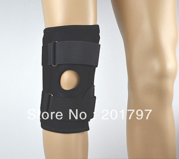 Free Shipping Neoprene Knee Support With Spring   Knee Brace  Knee Protector Adjustable