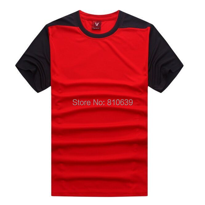 2015 NEW Sport Short Shirt Blank Soccer Jersey Football Team Training Jersey Set Black-Red(China (Mainland))