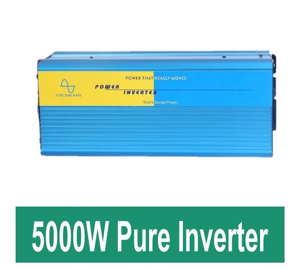 freeshipping Pure Sine Wave inverter 5000wpeak 10000W DC 12V /24v/12vto AC 220V power converter(China (Mainland))