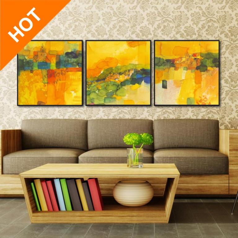 3 Pcs/Set Abstract Canvas Wall Art Top Home Decoration Modern Abstract Oil Painting Decorative Picture QH0013(China (Mainland))