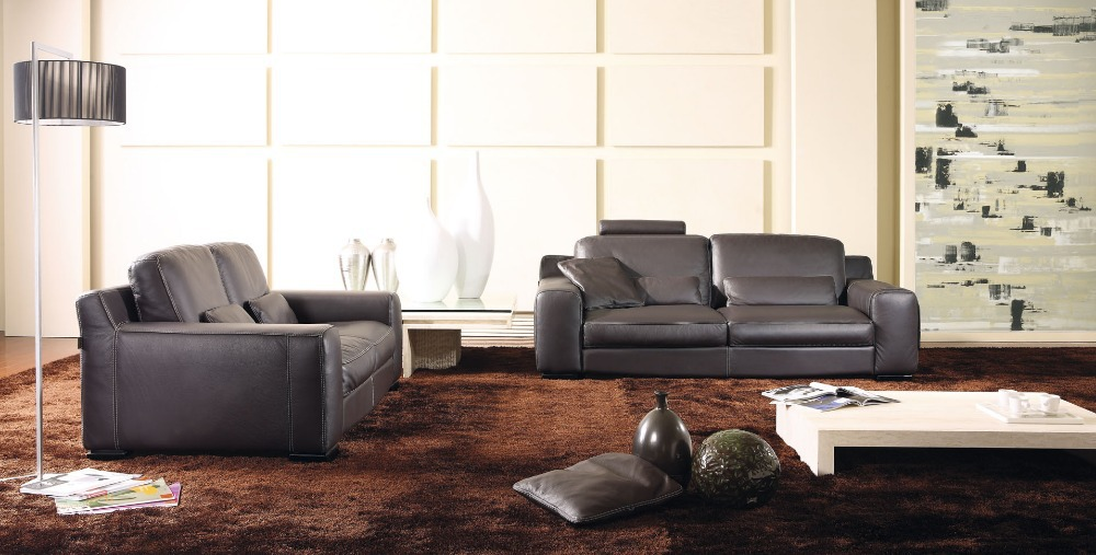 Used leather living room set modern house for Quality living room sets