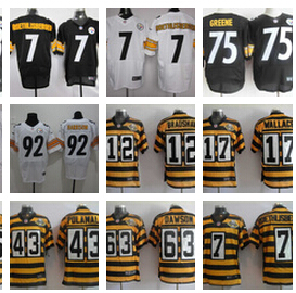 no 1 A+ Pittsburgh Steelers Wallace Bettis Harris Polamalu Pouncey Woodley Lambert Miller BROWN Harrison Bradshaw bell(China (Mainland))