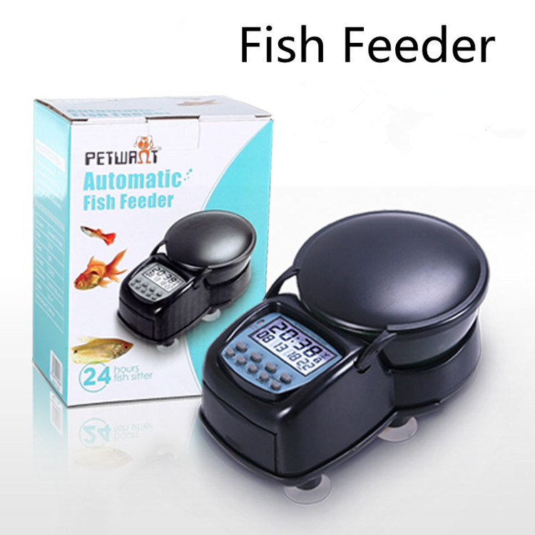 Aquatic Pet Feeder Automatic Pets Fish Supplies ProductTimed Portion Food Dispenser Fish Tank Bowl Appliant 80g 2PCSFree shippin(China (Mainland))