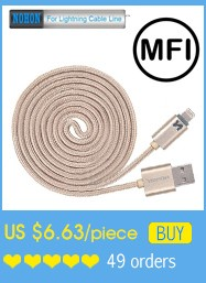 MFI For iPhone5 5S SE 5C 6 Plus ipad 4 mini Air NOHON 150cm LED SMART for Lightning Dock USB Data Charger Cable Line IOS 6 7 8 9