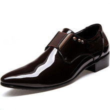 New Style 2015 Men Dress Shoes Autumn Winter Casual Formal Business Oxfords Breathable Sapatos Masculinos Men Shoes Black 7-9(China (Mainland))