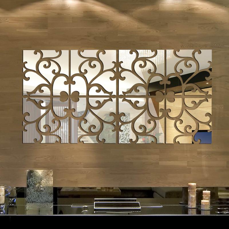 DIY 32pcs/set 3d mirror wall stickers Acrylic mural BIG sticker home Decoration WALL STICKERS espelhos decorativos 30x120cm(China (Mainland))