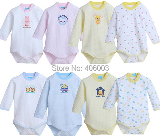 Kids Baby Long Sleeve Romper Baby Toddle Winter Cotton Clothes <br><br>Aliexpress