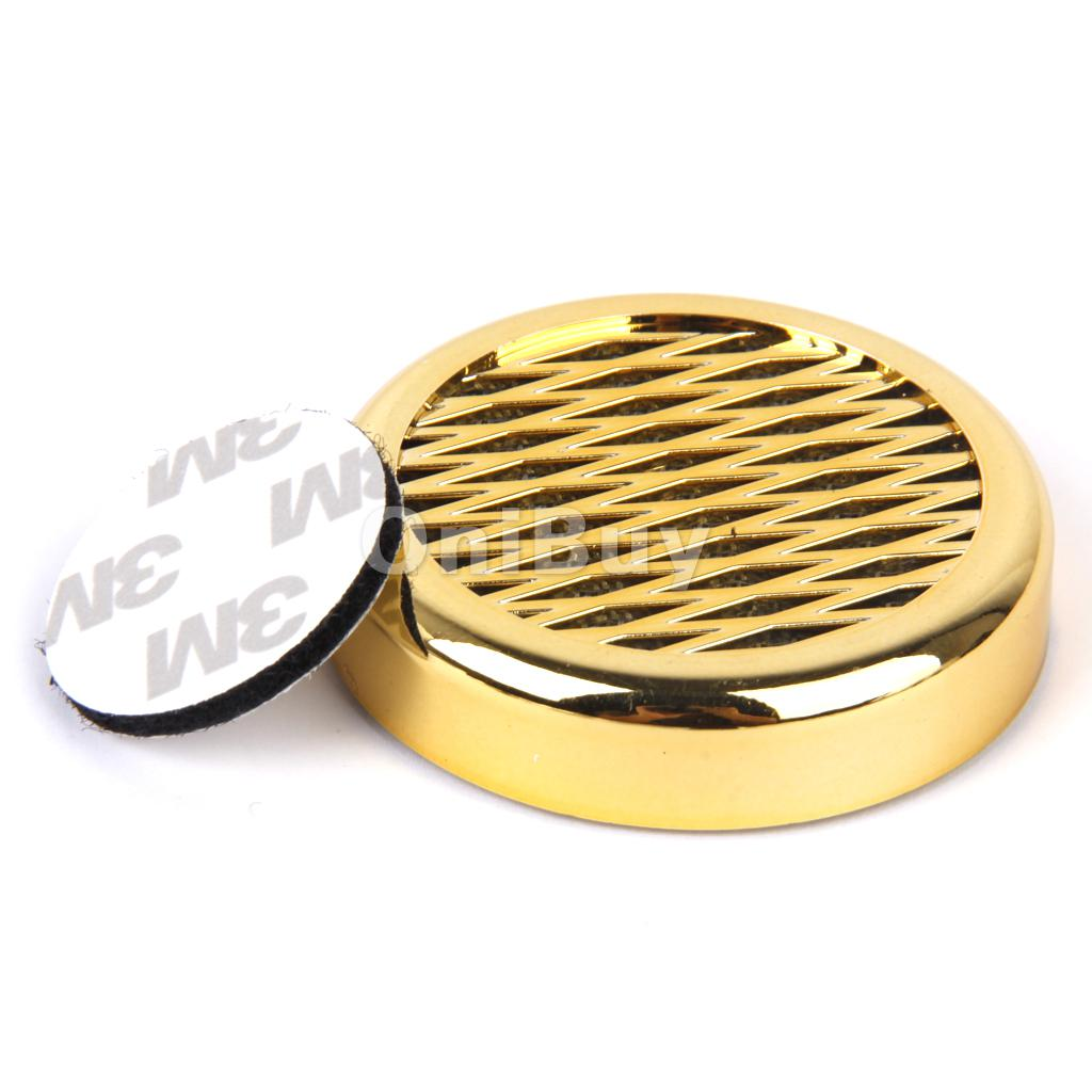 New Hot Sale Fashion Golden High Quality Cigar Humidifier Round Portable for Travel Smoking Accessories Free Shipping(China (Mainland))