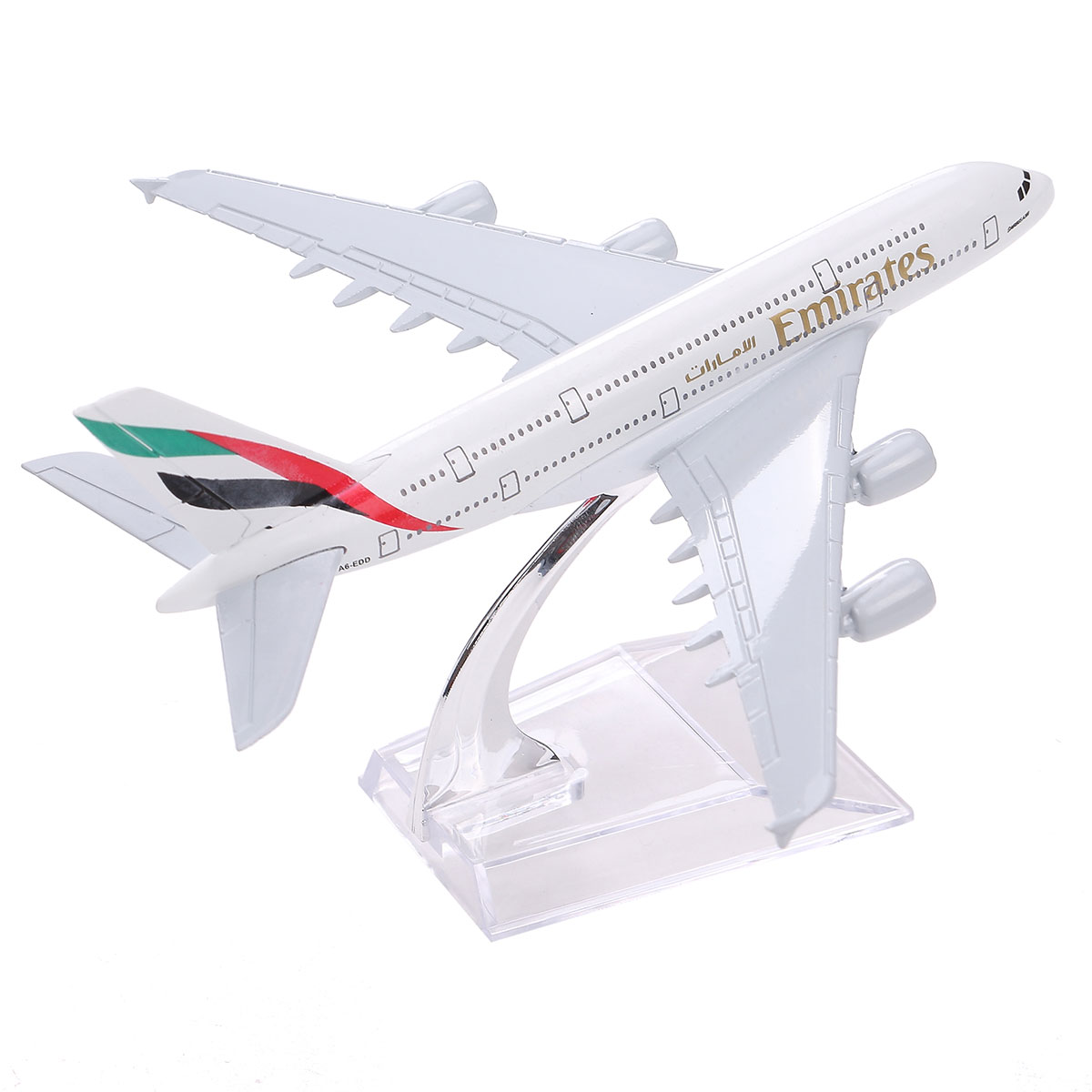 Brand New Airbus380 Emirates Airlines A-380 Aircraft Aeroplan 16cm Diecast Model United Arab Emirates A380 High Simulation(China (Mainland))