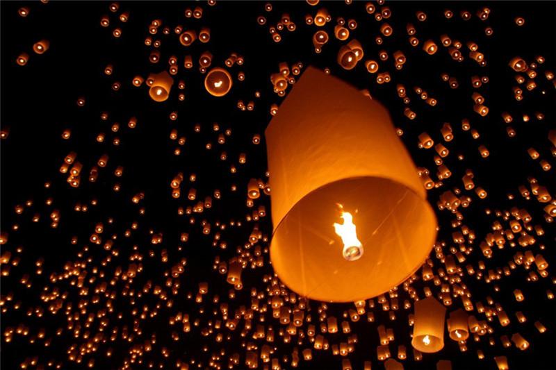15pcs/pack Cylinder paper sky lantern bag decorations europe sky lantern flame for wedding free shipping(China (Mainland))
